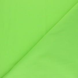 Tissu voile polycoton uni - vert pomme x 10cm