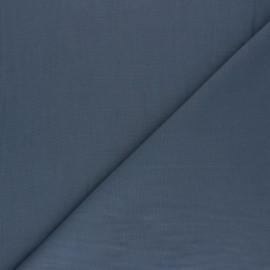 Tissu voile polycoton uni - gris ardoise x 10cm
