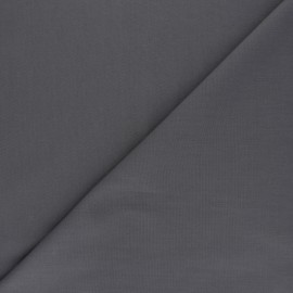 Polycotton voile fabric - dark grey x 10cm