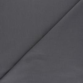 Tissu voile polycoton uni - gris foncé x 10cm