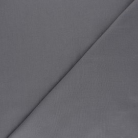 Tissu voile polycoton uni - gris x 10cm