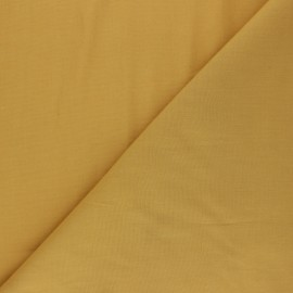 Polycotton voile fabric - curry yellow x 10cm