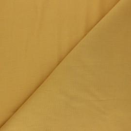 Tissu voile polycoton uni - curry x 10cm