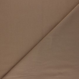 Polycotton voile fabric - hazelnut brown x 10cm