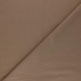 Tissu voile polycoton uni - noisette x 10cm