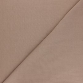 Polycotton voile fabric - chestnut brown x 10cm