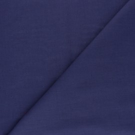 Polycotton voile fabric - indigo blue x 10cm