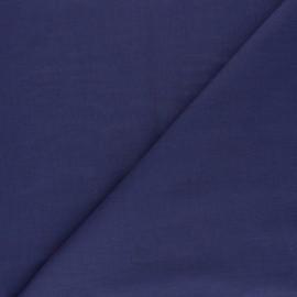 Tissu voile polycoton uni - bleu indigo x 10cm