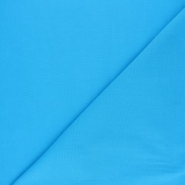 Polycotton voile fabric - turquoise blue x 10cm