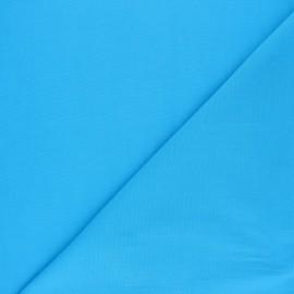 Tissu voile polycoton uni - bleu turquoise x 10cm