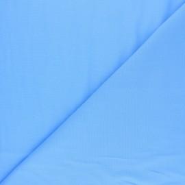 Tissu voile polycoton uni - bleu ciel x 10cm