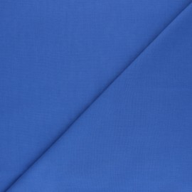 Tissu voile polycoton uni - bleu bleuet x 10cm