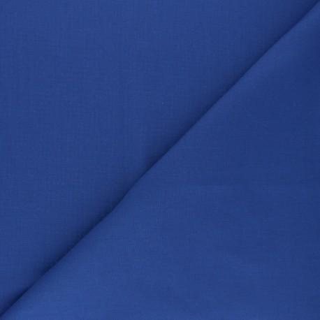 Tissu voile polycoton uni - bleu denim x 10cm
