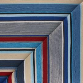 Tissu Jacquard Hamptons - bleu x 10 cm