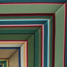 Tissu Jacquard Hamptons - vert x 10 cm