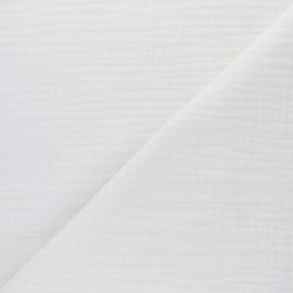 Plain Triple gauze fabric - raw Sorbet x 10cm