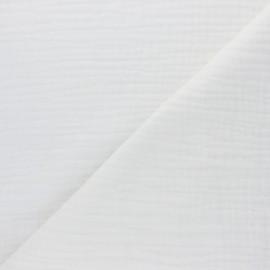 Tissu triple gaze de coton uni Sorbet - écru x 10cm