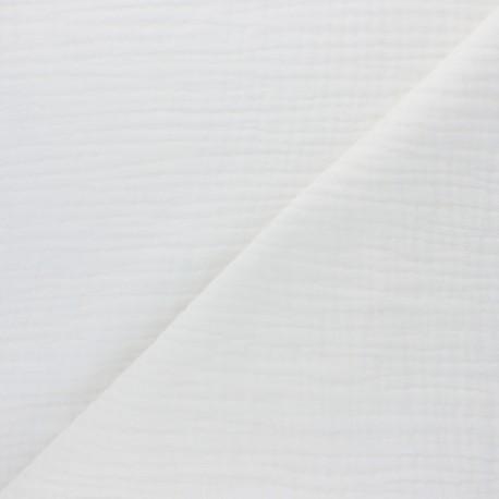Plain Triple gauze fabric - raw Sorbet x 10cm