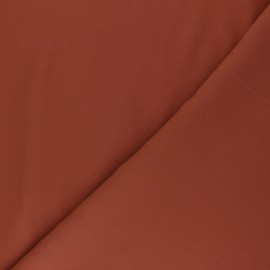 Plain tencel fabric - terracotta  x 10cm