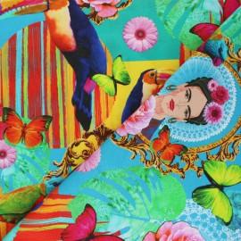 Cotton canvas fabric - multicolor Tropikahlo x 10cm
