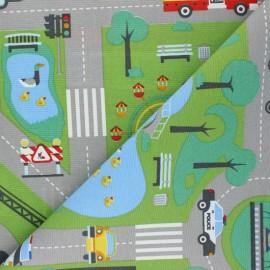 Tissu Toile polycoton Roadmap - multicolore x 70cm