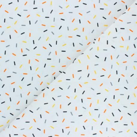 Stitched cotton fabric - orange Confetti x 10cm