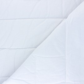 Thermal quilted Lining Fabric - White x 10cm