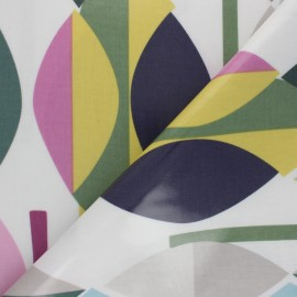 Oilcloth fabric - Purple Mabel x 10cm