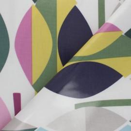 Tissu toile cirée Mabel - Violet x 10cm