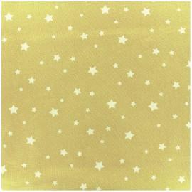 Tissu coton cretonne Scarlet - citron x 10cm