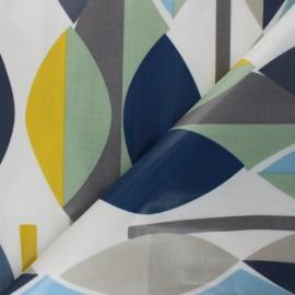 Tissu toile cirée Mabel - Bleu x 10cm