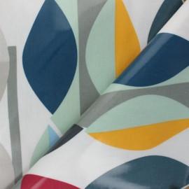 Tissu toile cirée Mabel - Gris x 10cm