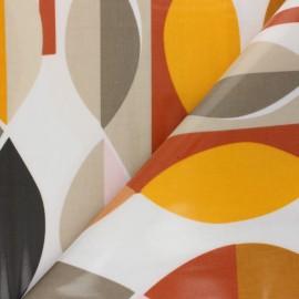 Tissu toile cirée Mabel - Orange x 10cm