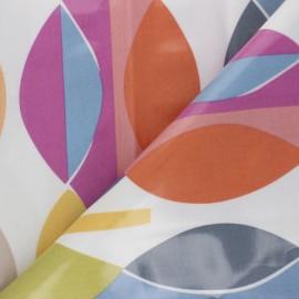 Tissu toile cirée Mabel - Rose x 10cm