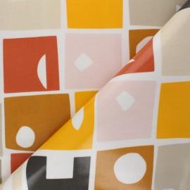 Tissu toile cirée Bonnie - Orange x 10cm