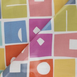 Tissu toile cirée Bonnie - Rose x 10cm