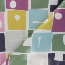 Tissu toile cirée Bonnie - Violet x 10cm
