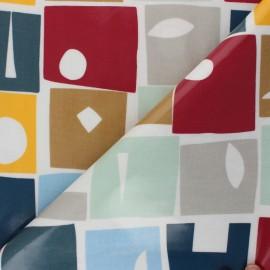 Tissu toile cirée Bonnie - Gris x 10cm