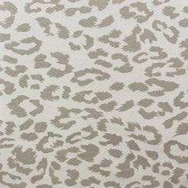♥ Coupon 80  cm X 140 cm ♥ Gabardine Lycra Fabric - Léopard Taupe