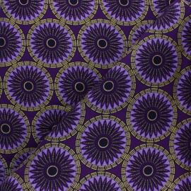 Tissu Wax à Paillettes Aworo - violet x 10cm