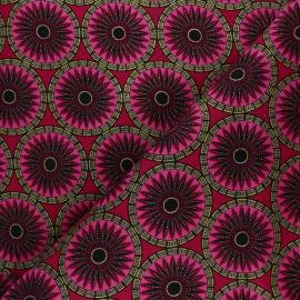 Tissu Wax à Paillettes Aworo - rose x 10cm