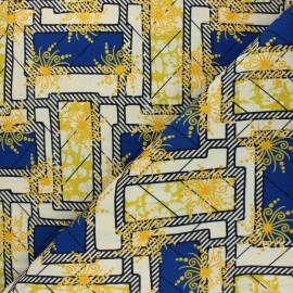 Tissu Wax à Paillettes Ouaké - bleu x 10cm