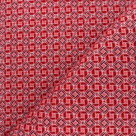 Glittery Wax print fabric - red Batia x 10cm