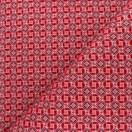 Tissu Wax à Paillettes Batia - rouge x 10cm
