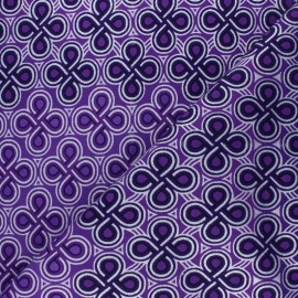 Glittery Wax print fabric - purple Kouaba x 10cm