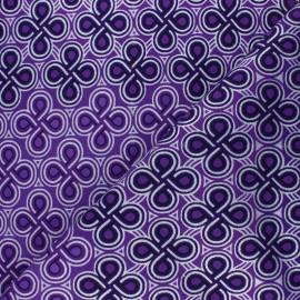 Tissu Wax à Paillettes Kouaba - violet x 10cm
