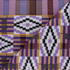 Tissu Wax à Paillettes Aledjo - violet x 10cm