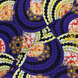 Glittery Wax print fabric - purple Kouandé x 10cm