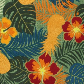 Outdoor canvas fabric - orange Paraguay x 10cm