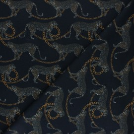 Stenzo Jersey cotton fabric - black Graoubling x 10cm